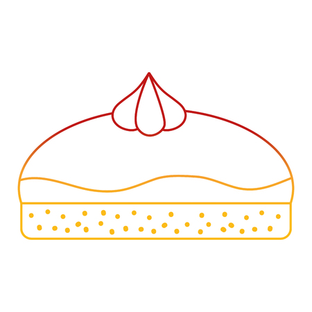 Cake of dessert sweet and bakery theme Isolated design Vector illustration