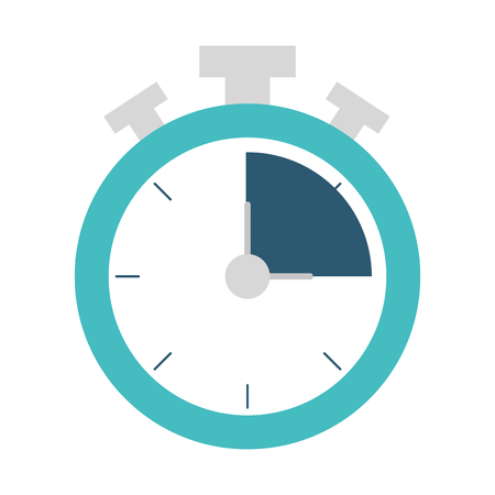 Chronometer of tool time and instrument theme Isolated design Vector illustration