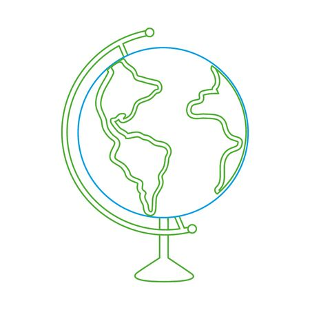 Planet sphere of earth world and map theme Isolated design Vector illustration