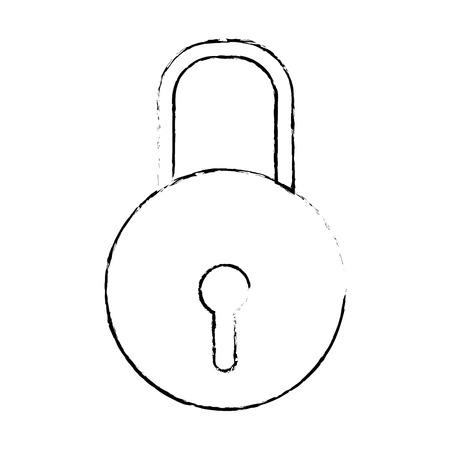 Isolated padlock design