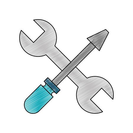 Wrench and screwdriver design Vectores