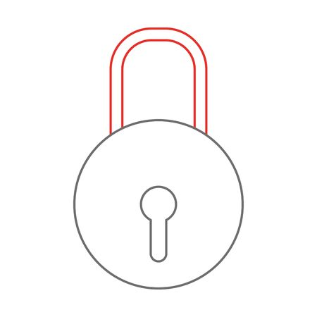Isolated padlock design