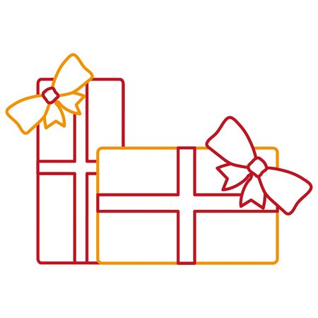 Gift of present holiday and christmas theme Isolated design Vector illustration Illustration