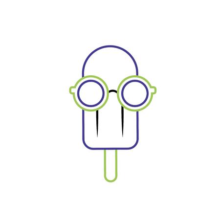 Isolated popsicle design Illustration