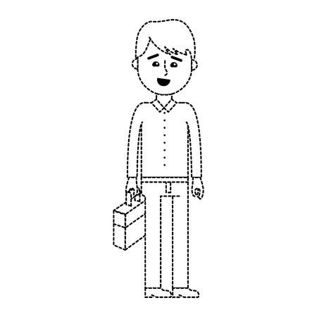 Isolated businessman design