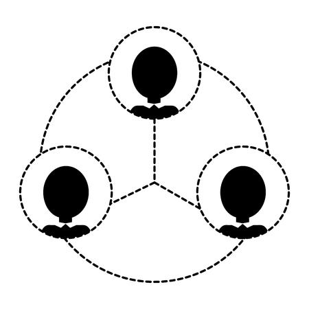 Isolated pictogram design Ilustração