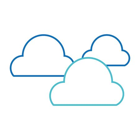 Clouds of weather sky and nature theme Isolated design Vector illustration