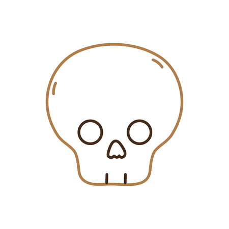 Skull of death horror and decoration theme Isolated design Vector illustration