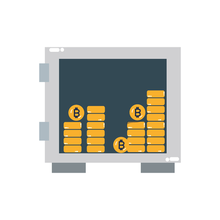 Strongbox of money financial and commerce theme Isolated design Vector illustration