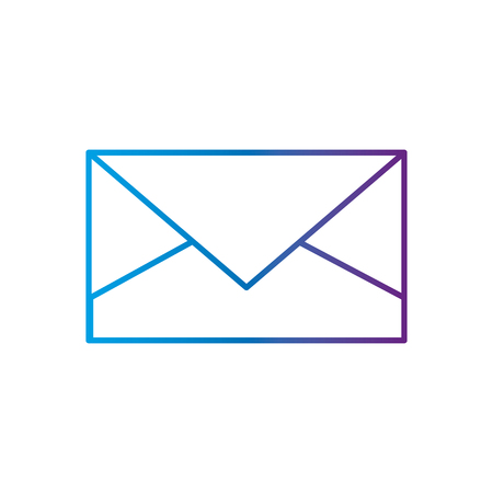 Envelope of email mail and message theme Isolated design Vector illustration