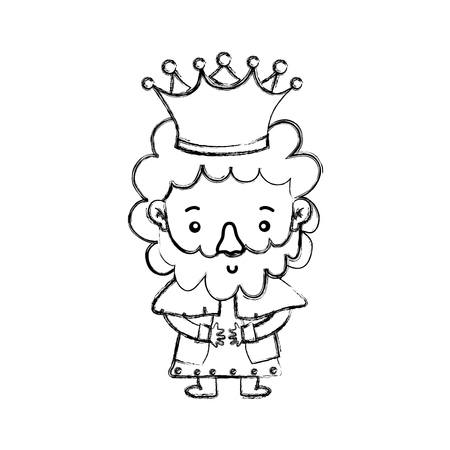 King of royal kingdom and imperial theme Isolated design Vector illustration Ilustrace