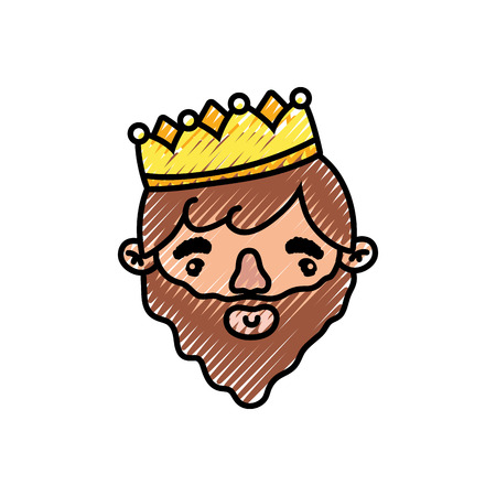 King of royal kingdom and imperial theme Isolated design Vector illustration  イラスト・ベクター素材