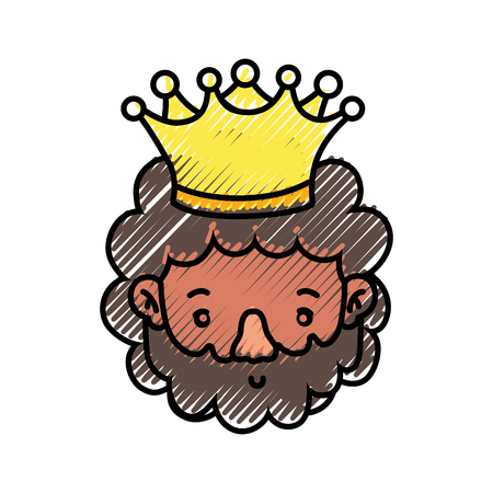 King of royal kingdom and imperial theme Isolated design Vector illustration Stock Illustratie
