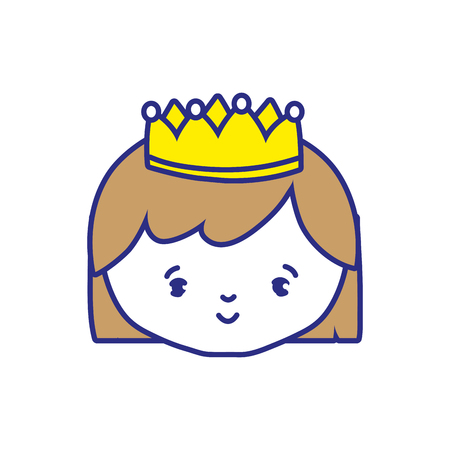 Princess of royal kingdom and imperial theme Isolated design Vector illustration