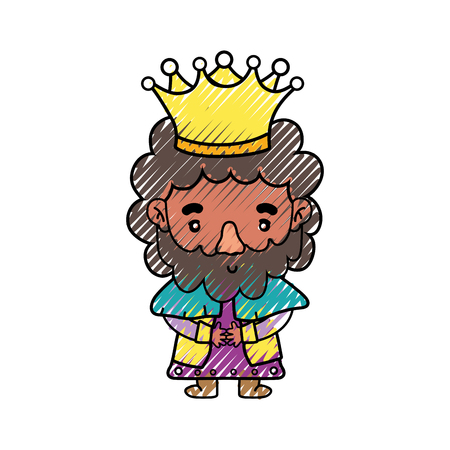 King of royal kingdom and imperial theme Isolated design Vector illustration Illustration