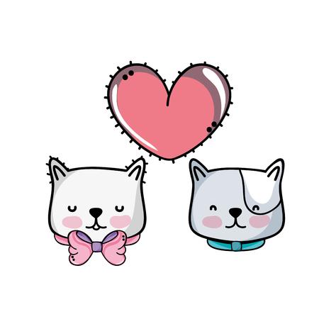 Cartoon kitten theme design illustration.