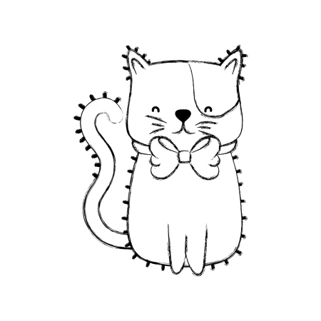 Isolated cat design Vectores