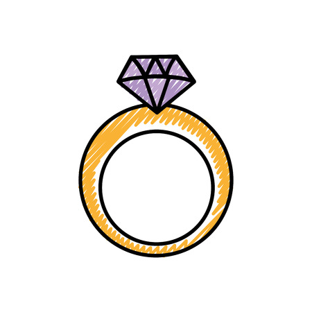 Diamond of gem jewelry and precious theme Isolated design Vector illustration