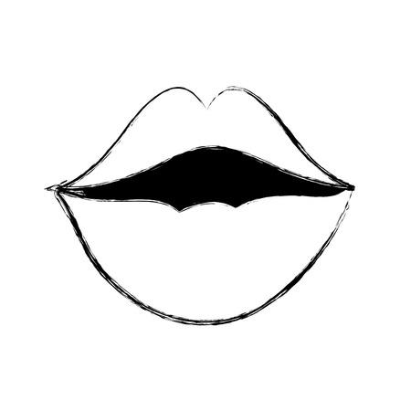 Mouth cartoon design Illustration