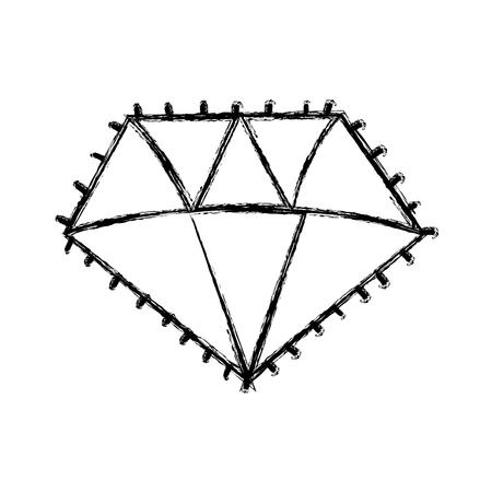 Isolated diamond design