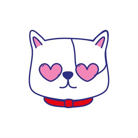 Cartoon cat of animal pet and kitten theme Isolated design Vector illustration