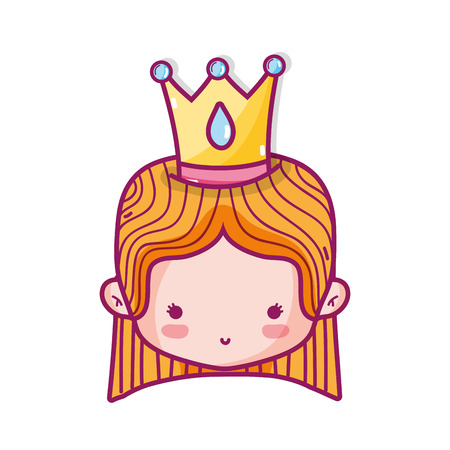 Princess of royal kingdom and imperial theme design, vector illustration.