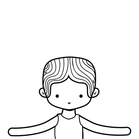 Dancing boy of ballet sport and health theme Isolated design Vector illustration Illustration