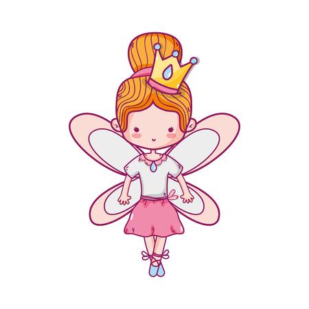 Mädchen, das Ballett mit Flügeln tanzt Standard-Bild - 90422754