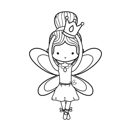 Dancing girl of ballet sport and health theme Isolated design Vector illustration