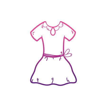 Dress of cloth fashion and style theme Isolated design Vector illustration Ilustração