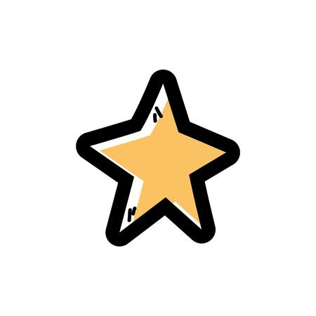 color shiny star decoration design over white background vector illustration