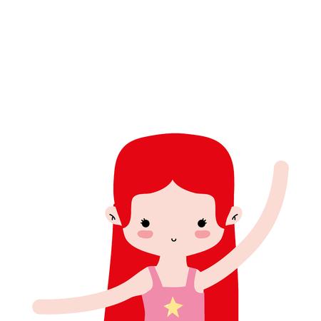 girl prantice ballet with straight hair design vector illustration