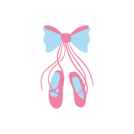 ballet shoes style with ribbon bow vector illustration
