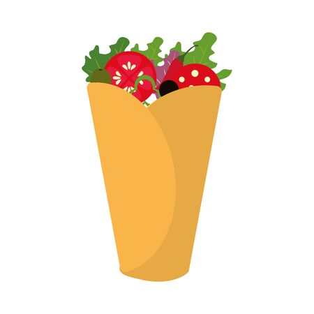 Burrito of mexican and fast food theme Isolated design Vector illustration