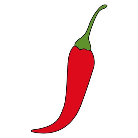 Isolated chili pepper design Ilustracja