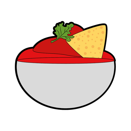 Isolated nachos design Vectores