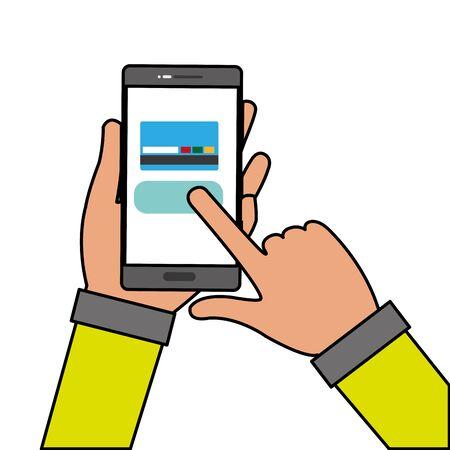 Smartphone and card design Illustration