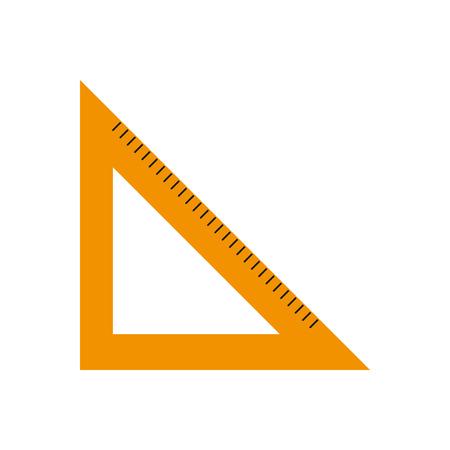 Isolated ruler design Illustration