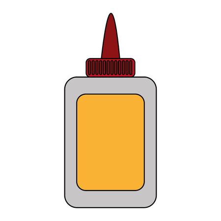 Lijmfles van kleefstof en document thema Geïsoleerde ontwerp Vectorillustratie
