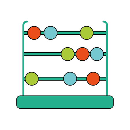 Abacus of tool game and school theme Isolated design Vector illustration Illustration