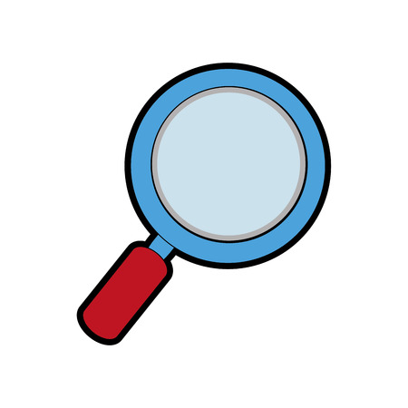 Loupe of tool search and magnifying glass theme Isolated design Vector illustration