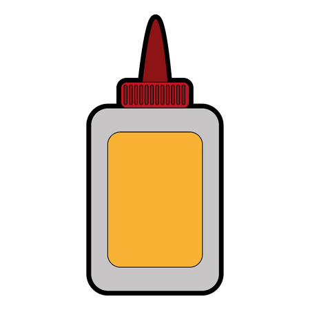 Glue bottle of stick adhesive and paper theme Isolated design Vector illustration