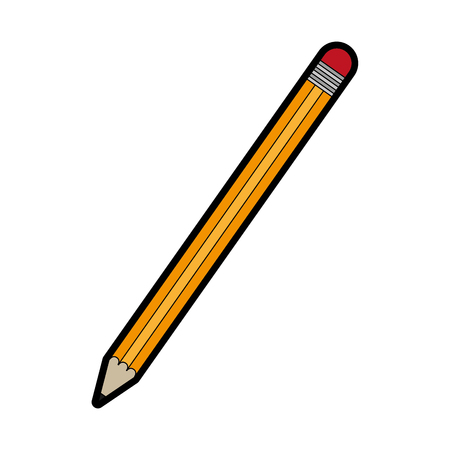 Pencil of tool write and office theme Isolated design Vector illustration