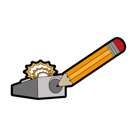 Pencil and eraser of tool write and office theme Isolated design Vector illustration