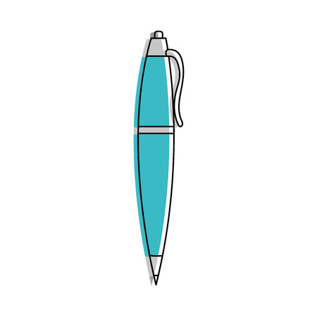 Pen of tool write and office theme Isolated design Vector illustration