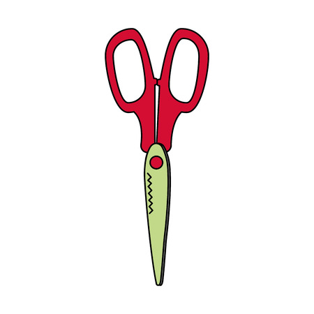 Scissor of tool instrument and cut theme Isolated design Vector illustration Illustration