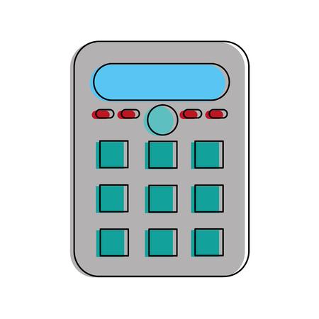 Calculator of tool mathematics and finance theme Isolated design Vector illustration