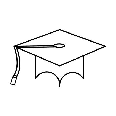 Cap of graduation university and education theme Isolated design Vector illustration 矢量图像