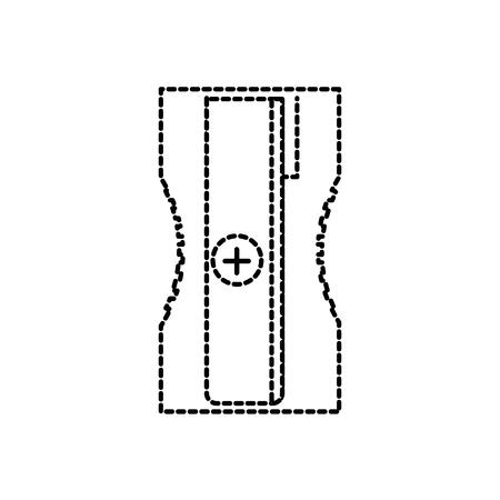 鉛筆学校と教育テーマのシャープナー孤立したデザインベクトルイラスト 写真素材 - 90688450