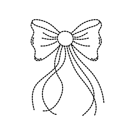 dotted shape ribbon bow with slats decoration design